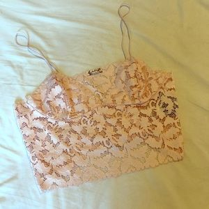 Free People cropped lace cami